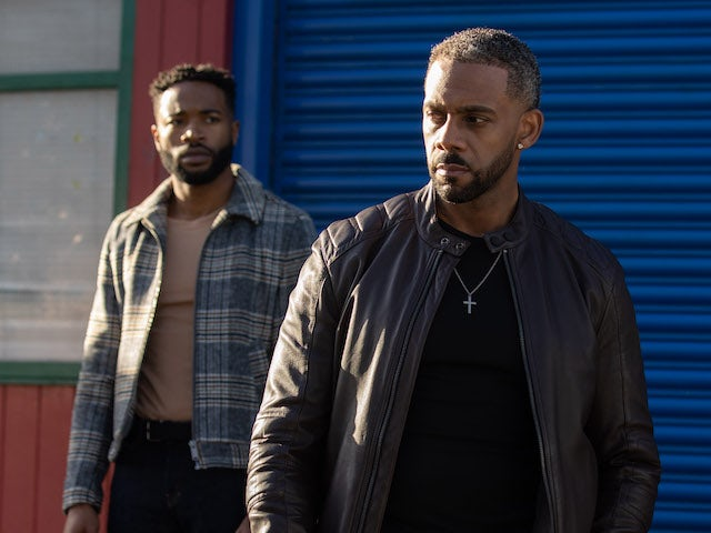 Toby and Felix on Hollyoaks on March 26, 2021