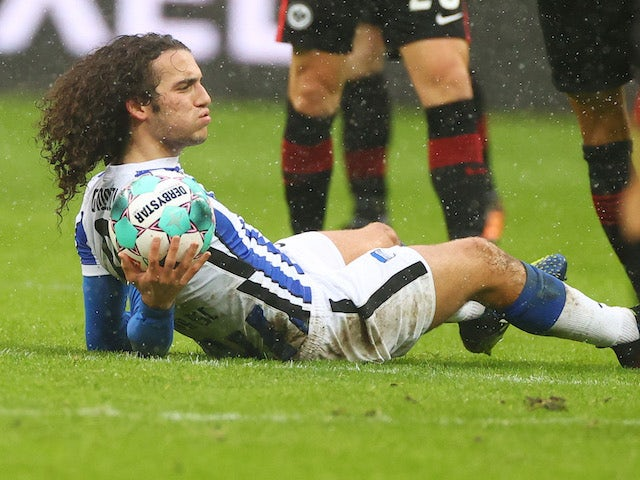 Matteo Guendouzi in action for Hertha Berlin on January 30, 2021
