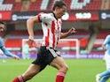Sander Berge in action for Sheffield United on October 31, 2020