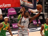 Washington Wizards guard Bradley Beal shoots the ball against the Utah Jazz on March 19, 2021