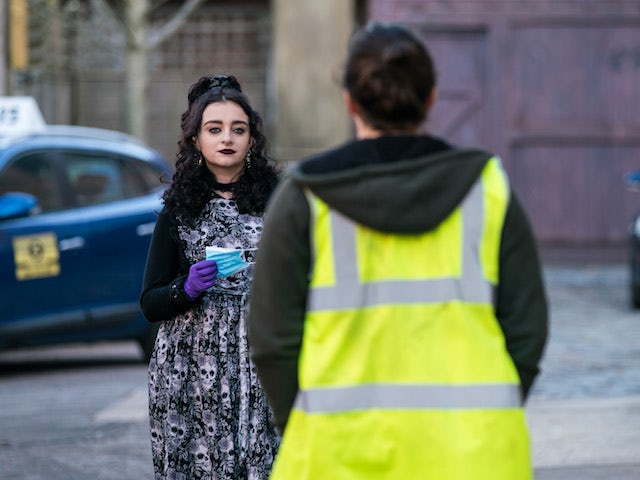 Nina on Coronation Street on April 1, 2021