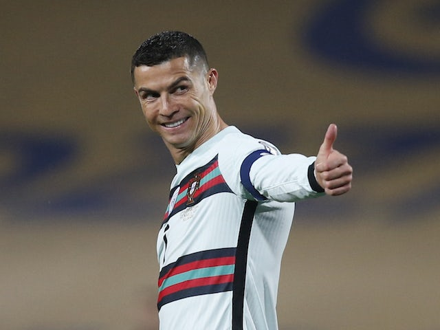Slika portugalskega kapetana Cristiana Ronalda 27. marca 2021