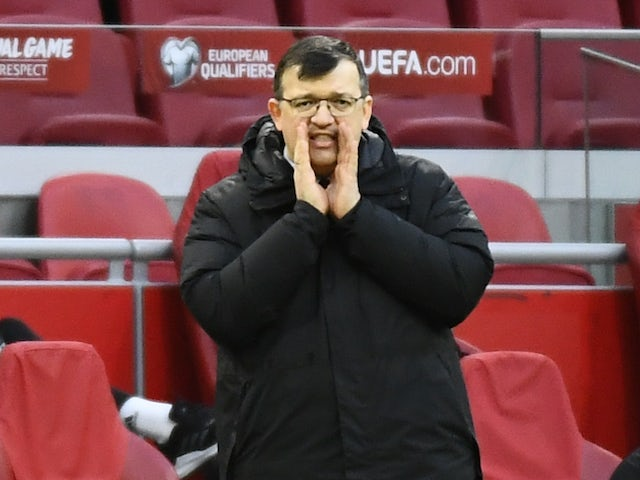 Latvia -trener Dinis Kazakovix filmet 27. mars 2021