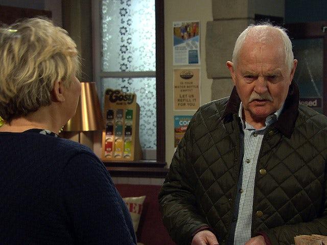 Pollard on the second episode of Emmerdale on April 8, 2021