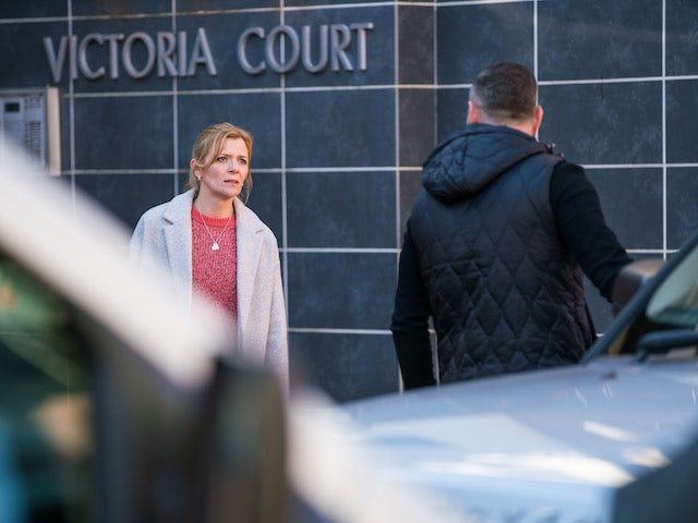 Leanne and Harvey on the second episode of Coronation Street on April 7, 2021