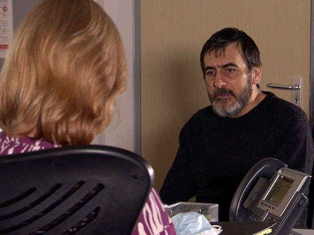 Peter and the consultant on Coronation Street on April 9, 2021