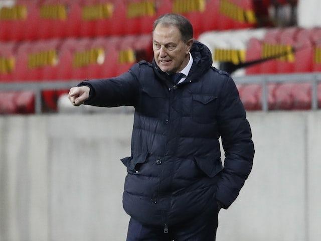 Azerbaijan coach Gianni De Biasi during the match on March 27, 2021