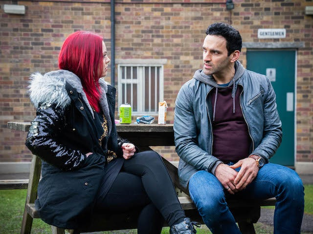 Whit and Kush on EastEnders on April 8, 2021