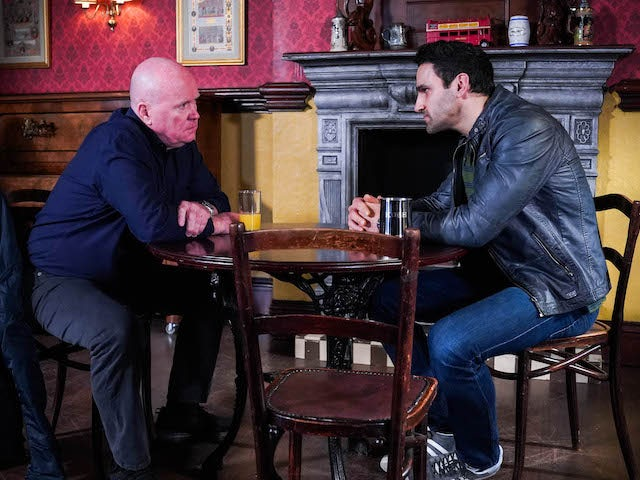 Phil and Kush on EastEnders on April 9, 2021