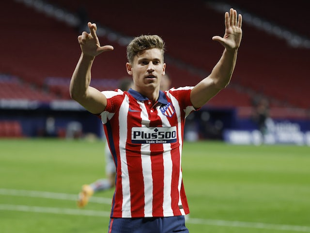 Atletico Madrid's Marcos Llorente pictured on March 10, 2021