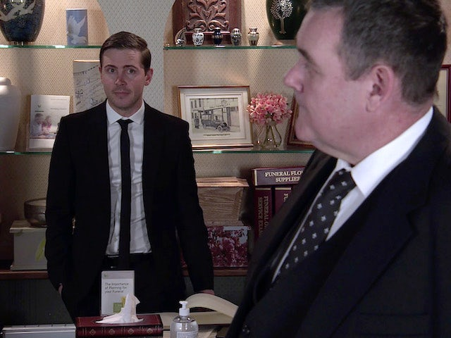 Todd and George on the second episode of Coronation Street on April 7, 2021