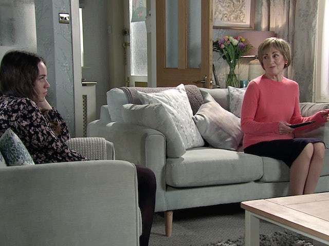 Faye and Elaine on the first episode of Coronation Street on April 5, 2021