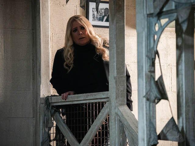 Sharon on EastEnders on April 5, 2021