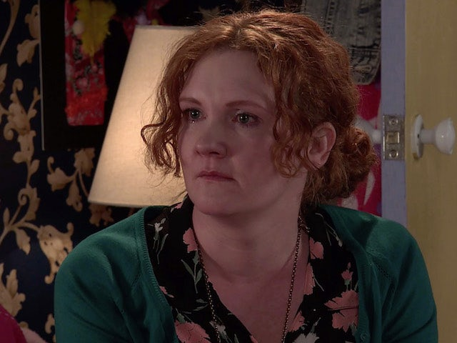 Fiz on the second episode of Coronation Street on April 5, 2021