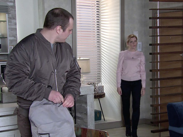 Ned and Leanne on the first episode of Coronation Street on April 5, 2021