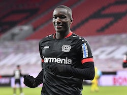 Bayer Leverkusen's Moussa Diaby pictured in January 2021