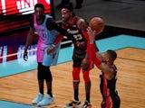 Portland Trail Blazers guard Damian Lillard shoots against the Miami Heat on March 26, 2021