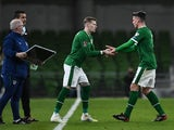 Republic of Ireland's James McClean comes on as a substitute against Luxembourg on March 27, 2021
