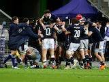 Scotland celebrate beating France in the Six Nations on March 26, 2021