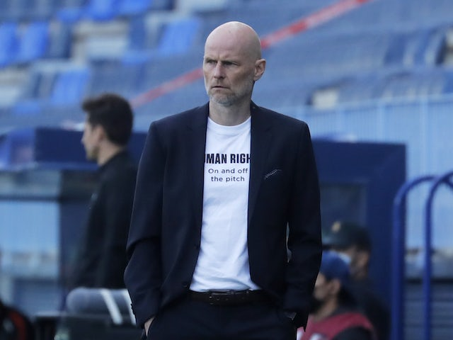 Norway coach Stale Solbakken pictured on March 27, 2021