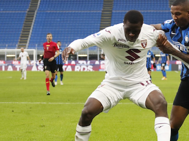 Torino's Wilfried Singo in action in November 2020