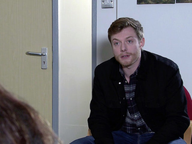 Daniel on the second episode of Coronation Street on April 12, 2021