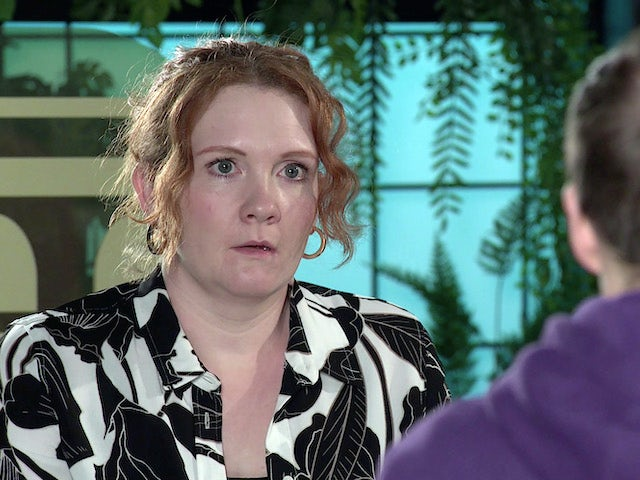 Fiz on Coronation Street on April 16, 2021