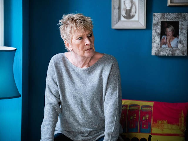 Shirley on EastEnders on April 12, 2021