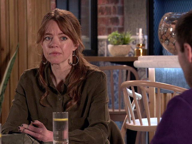 Toyah on Coronation Street on April 16, 2021