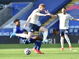 Kevin De Bruyne in action for Manchester City against Leicester City in the Premier League on April 3, 2021