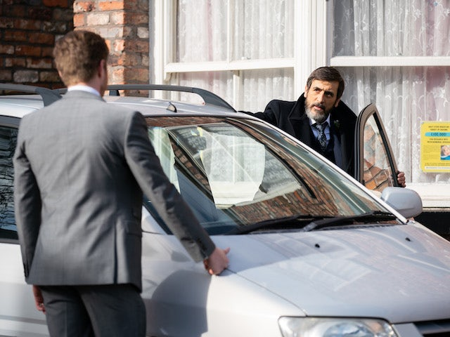 Daniel and Peter on Coronation Street on April 16, 2021