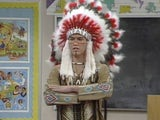 Zack Morris dressed as a Native American on Saved By The Bell
