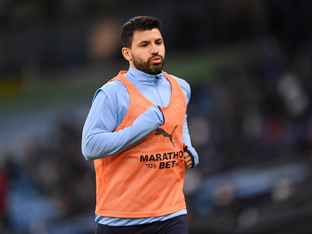 Man City without Sergio Aguero for Chelsea semi-final