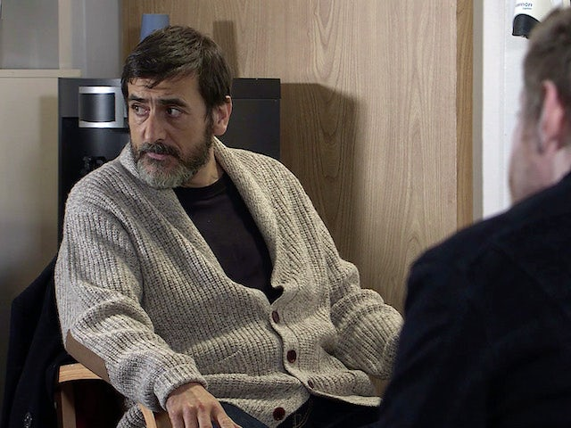 Peter on the second episode of Coronation Street on April 12, 2021