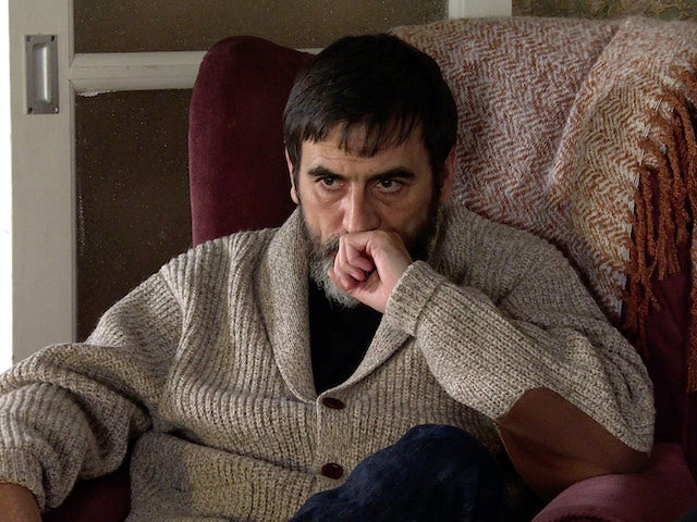 Peter on the first episode of Coronation Street on April 12, 2021