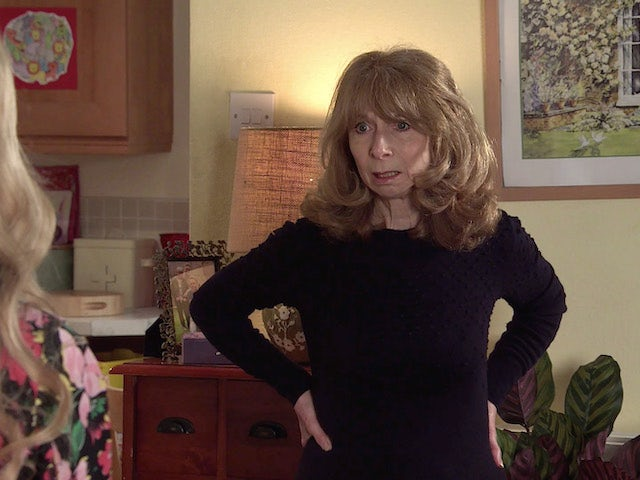 Gail on the first episode of Coronation Street on April 12, 2021
