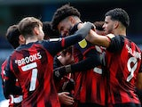 Bournemouth's Philip Billing celebrates scoring their first goal against Blackburn Rovers in the Championship on April 5, 2021