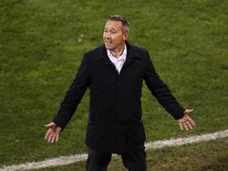 Columbus Crew head coach Caleb Porter reacts against the Seattle Sounders in the second half during the 2020 MLS Cup Final at MAPFRE Stadium in December 2020