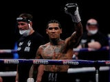 Conor Benn celebrates after winning the fight against Samuel Vargas on April 10, 2021