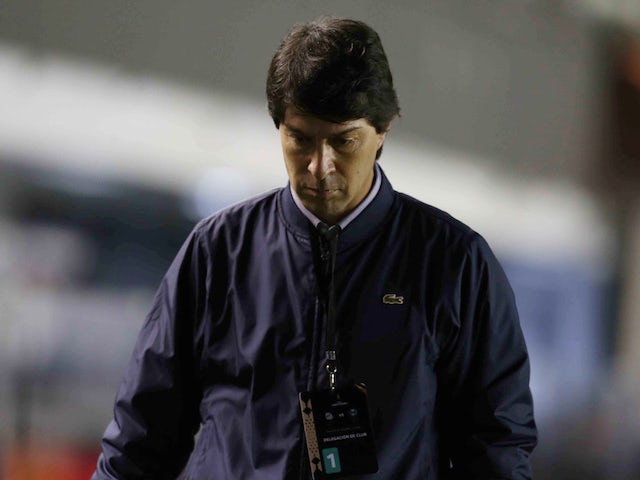 Daniel Garnero, now in charge of Club Libertad, pictured in September 2020