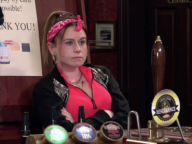 Gemma on the second episode of Coronation Street on April 21, 2021