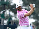 Dustin Johnson in action at the Masters on April 8, 2021