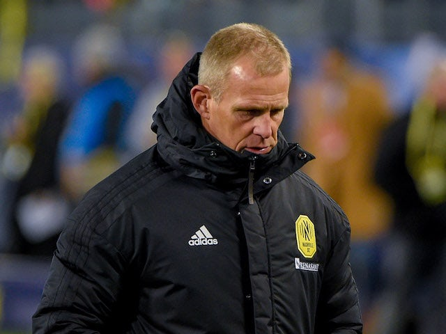 Nashville SC head coach Gary Smith walks off the field after falling to Atlanta United at Nissan Stadium in February 2020