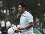 Hideki Matsuyama pictured at the Masters on April 11, 2021