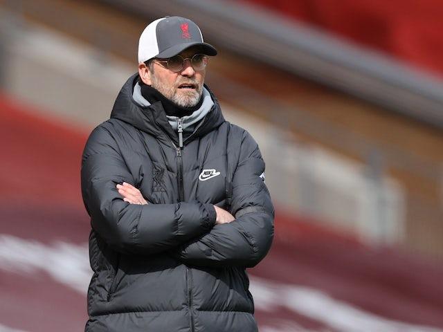 Liverpool manager Jurgen Klopp pictured on April 10, 2021