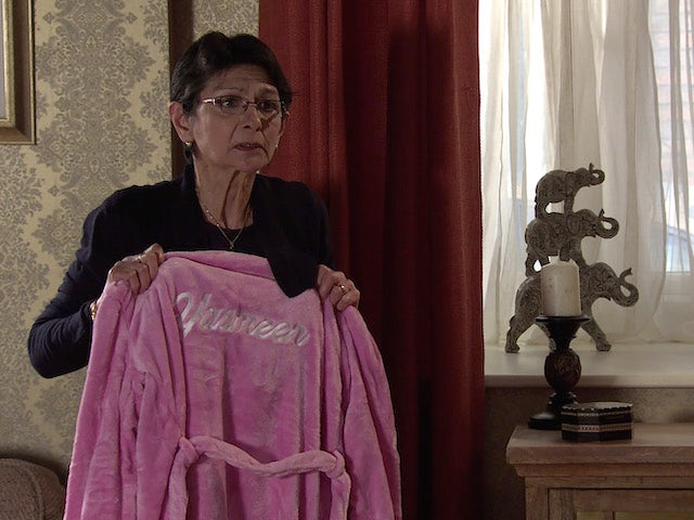 Yasmeen on the second episode of Coronation Street on April 21, 2021