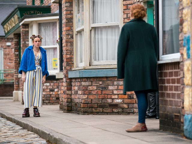 Gemma on Coronation Street on April 23, 2021
