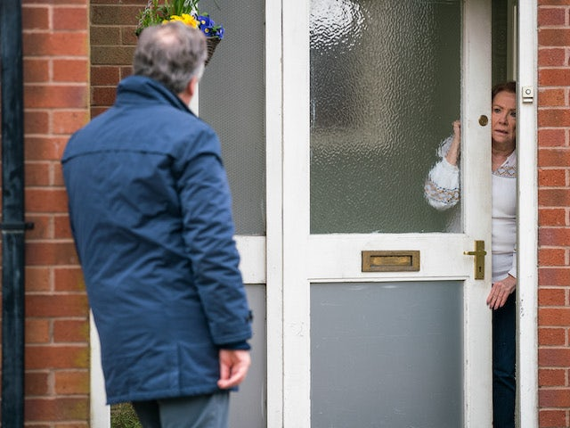 Brian and Cathy on the first episode of Coronation Street on April 21, 2021