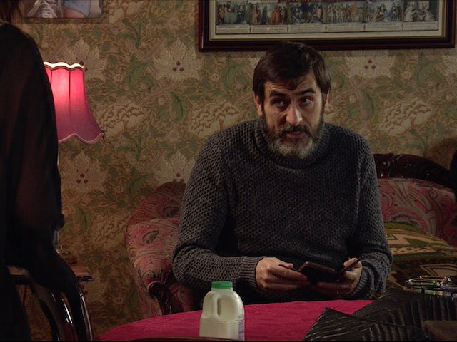 Peter on the second episode of Coronation Street on April 19, 2021