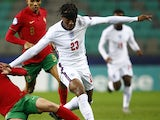 Noni Madueke in action for England Under-21s in March 2021